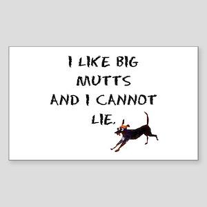 I like big mutts Rectangle Sticker