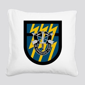 12th Special Forces Square Canvas Pillow
