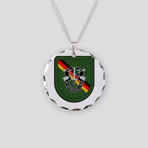 1st BN 10th Special Forces Necklace Circle Charm