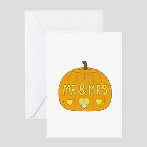 Mrs and Mrs Halloween Jack O'la Greeting Cards
