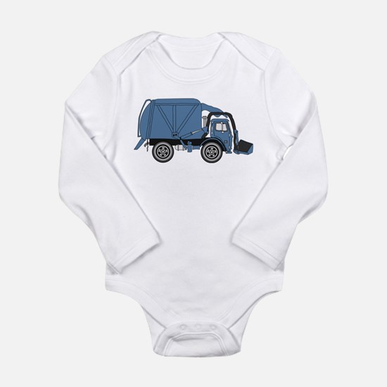 Cute Garbage truck Long Sleeve Infant Bodysuit