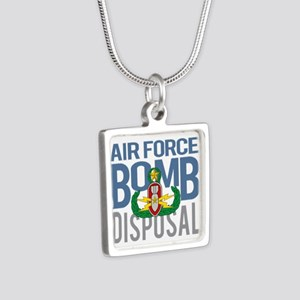 Air Force Master EOD Silver Square Necklace