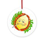 Feverish Lemons Circle Ornament (Round)