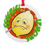 Feverish Lemons Circle Ornament