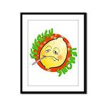 Feverish Lemons Circle Framed Panel Print