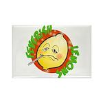 Feverish Lemons Circle Magnets