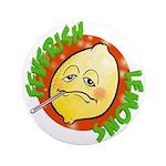 """Feverish Lemons Circle 3.5"""" Button (100 pack)"""