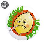 """Feverish Lemons Circle 3.5"""" Button (10 pack)"""