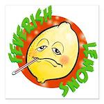 """Feverish Lemons Circle Square Car Magnet 3"""" x 3"""""""