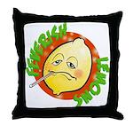 Feverish Lemons Circle Throw Pillow
