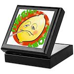 Feverish Lemons Circle Keepsake Box