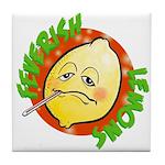 Feverish Lemons Circle Tile Coaster