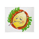 Feverish Lemons Circle Throw Blanket