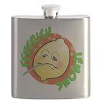 Feverish Lemons Circle Flask