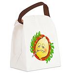 Feverish Lemons Circle Canvas Lunch Bag