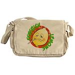 Feverish Lemons Circle Messenger Bag