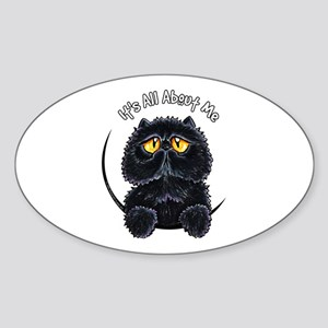 Black Persian IAAM Sticker (Oval)