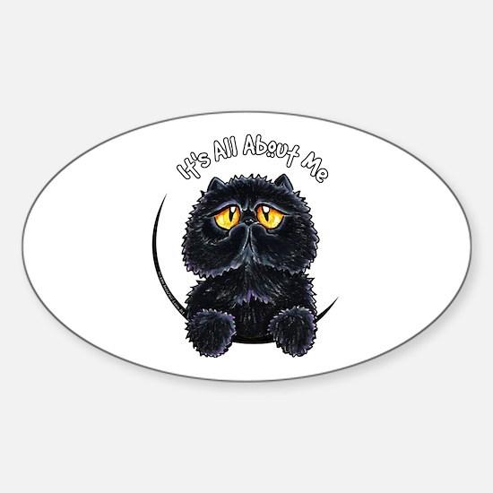 Black Persian IAAM Sticker (Oval)