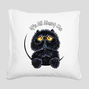 Black Persian IAAM Square Canvas Pillow