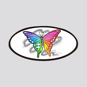 Rainbow butterfly with Puzzle piece Patches