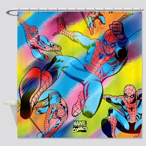 Colorful Spiderman Shower Curtain