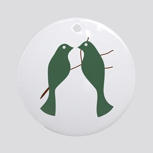 Turtle Doves Ornament (Round)