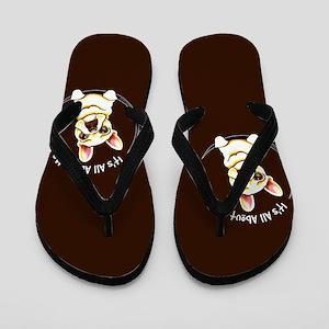 Fawn Frenchie IAAM Brown Flip Flops