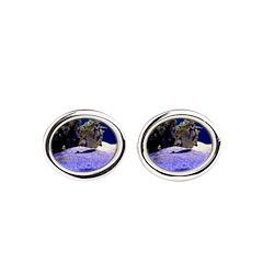 Seahorse Pair Oval Cufflinks