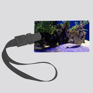 Seahorse Pair Large Luggage Tag