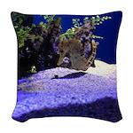 Seahorse Pair Woven Throw Pillow