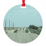 On the Road Round Ornament