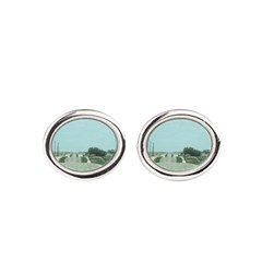 On the Road Oval Cufflinks