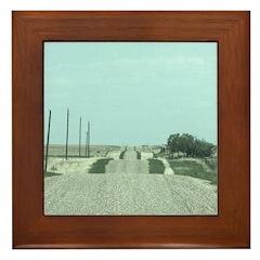 On the Road Framed Tile