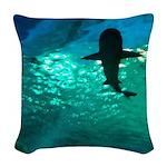 Shark! Woven Throw Pillow