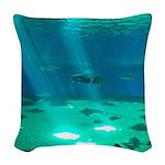 Fishy Conversation Woven Throw Pillow