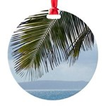 Palm Frond Round Ornament
