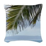 Palm Frond Woven Throw Pillow