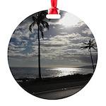Palm Tree Evening Round Ornament