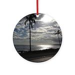 Palm Tree Evening Ornament (Round)