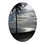 Palm Tree Evening Ornament (Oval)