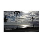 Palm Tree Evening Rectangle Car Magnet
