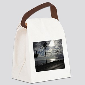 Palm Tree Evening Canvas Lunch Bag
