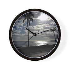 Palm Tree Evening Wall Clock