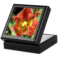 Flaming Tulip Keepsake Box