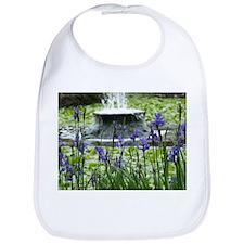 Fountain & Flowers Bib