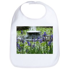 Fountain & Flowers Bib