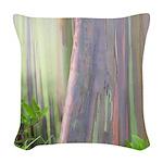 Rainbow Eucalyptus Tree Woven Throw Pillow
