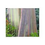 Rainbow Eucalyptus Tree Throw Blanket