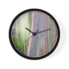 Rainbow Eucalyptus Tree Wall Clock