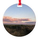 Prairie Summer Sunset Round Ornament
